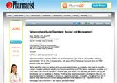Temporomandibular Disorders: Review and Management